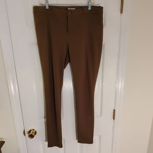 Olive stretch leggings with back pockets (14)